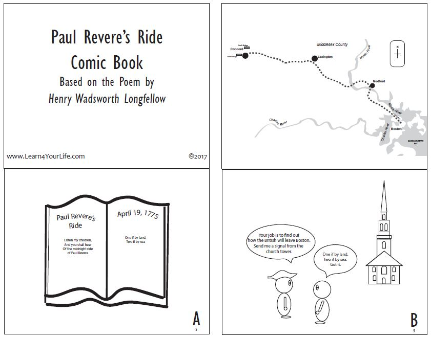 Paul Reveres Ride Comic Strip Page 1