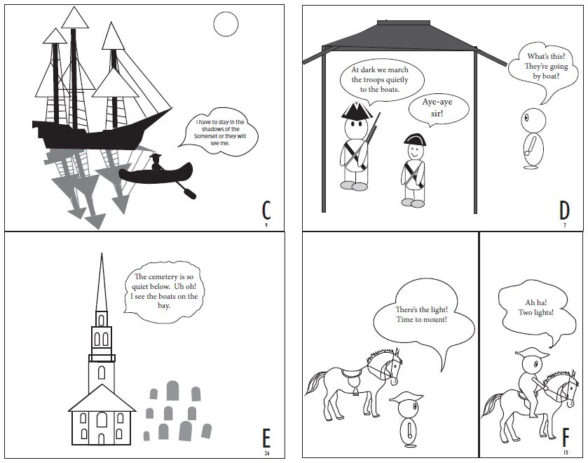 Paul Reveres Ride Comic Strip Page 2