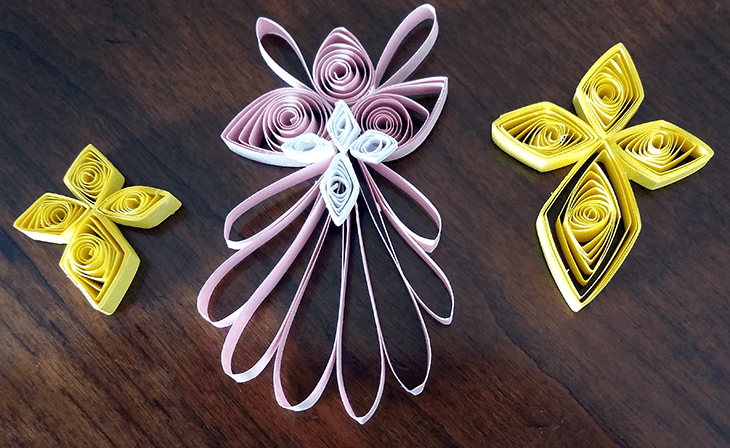 Quilled Angel and Star