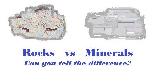 rocks and minerals diagram