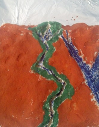 Salt Dough Map of Nile River Valley