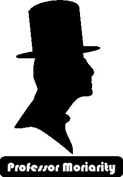 Professor Moriarty silhouette