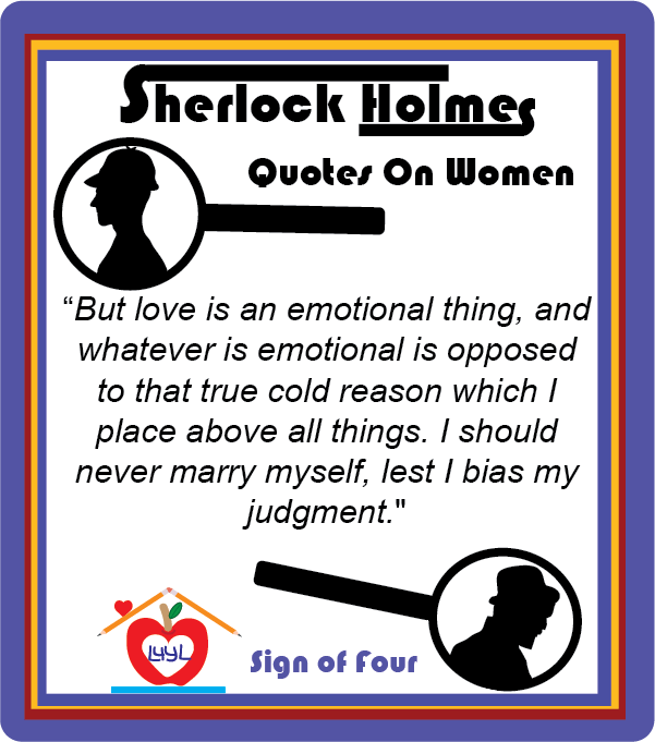 Sherlock Holmes Quotes About Women #1