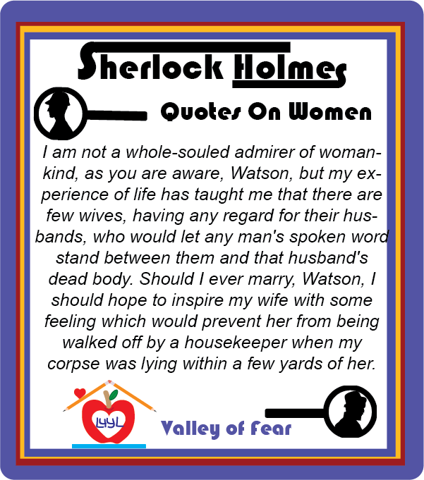 Sherlock Holmes Quotes About Women #2
