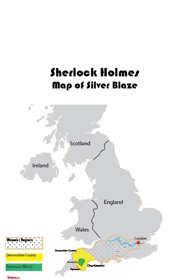 Sherlock Holmes Silver Blaze Map