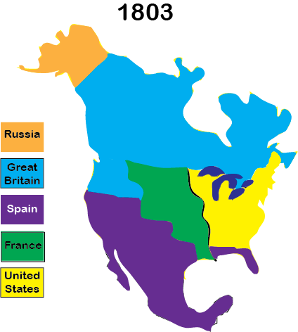 Color Map of Louisiana Purchase
