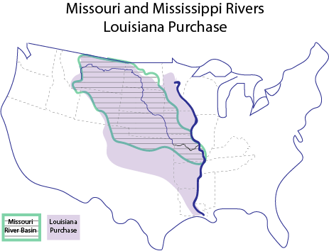 Missouri River Water Basin and the Louisiana Purchase