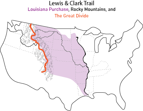 The Great Divide and the Louisiana Purchase