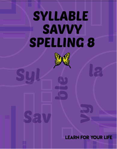 Syllable Savvy Spelling 3 Cover