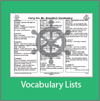 Carry On Mr. Bowditch Vocabulary List