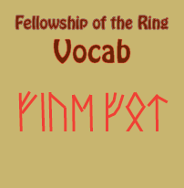 Fellowship of the Ring Vocabulary Lists