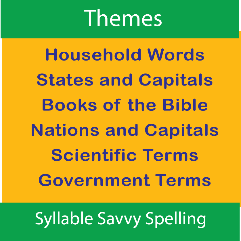 Spelling Themes