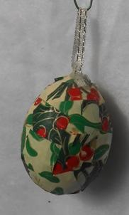 Egg Christmas Ornament