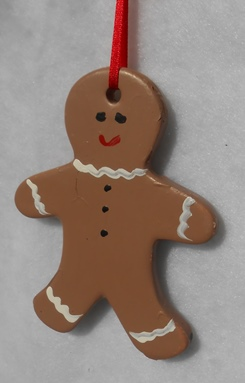 Gingerbread Painted Ornament