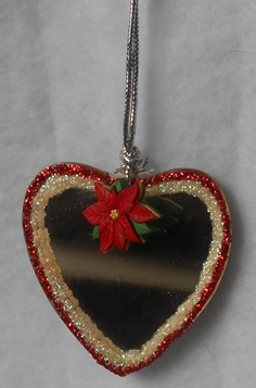 Heart Shaped Mirror Ornament