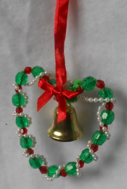 homemade bead Christmas ornament