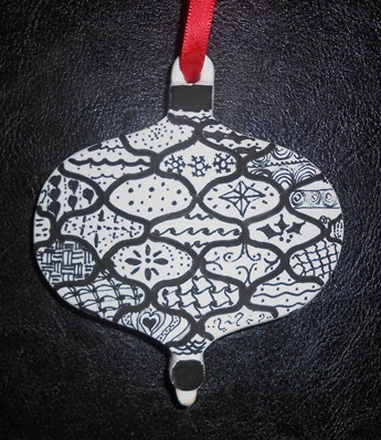 zentangle christmas ornament