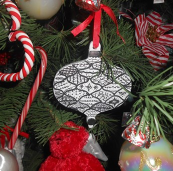 Zentangle Christmas Tree Ornament