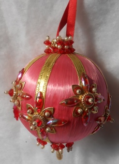 Pink & Red Ornament