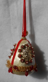 White & Red Ornament
