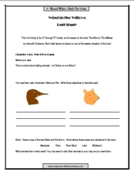 wind in the willows worksheet