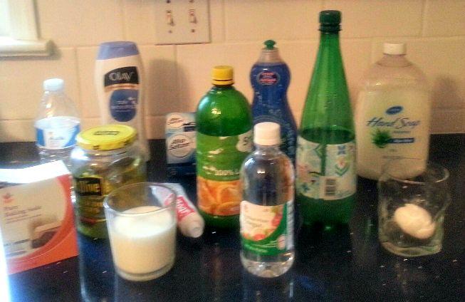 pH Experiment Substances