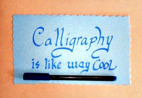 calligraphy is cool
