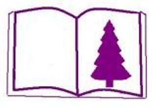 silhouette of Christmas tree