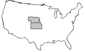 Kansas Nebraska map