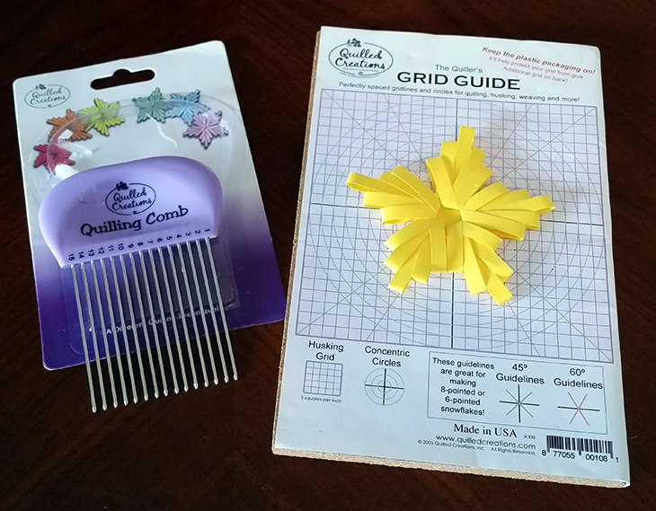 Double Comb Quilled Star