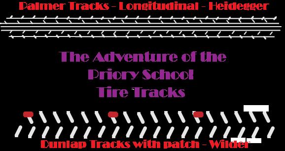 Sherlock Holmes Priory School Bicycle Tracks