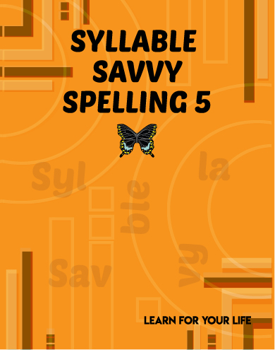 Syllable Savvy Spelling 5 Cover