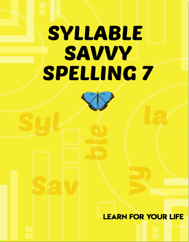 Syllable Savvy Spelling 7 Cover